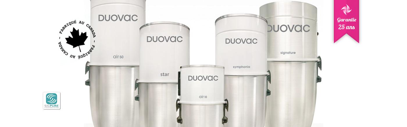 Centrales d'aspiration Duovac