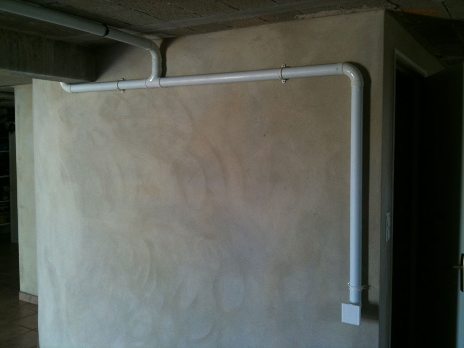 Installation Duovac sous-sol