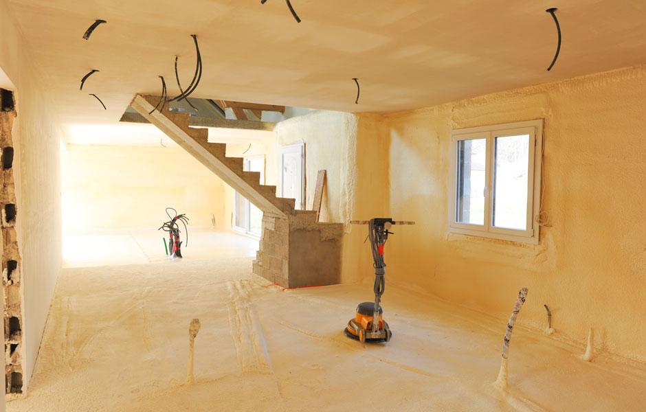 Travaux d'isolation pour un projet en construction à Saint Julien